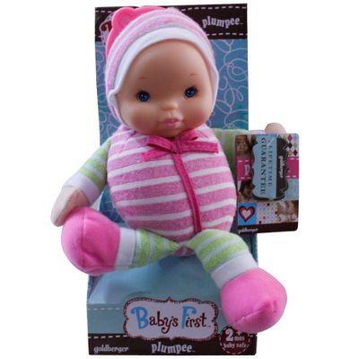 Boneca Baby's First - Mobile e Chocalho - Rosa e Verde - New Toys