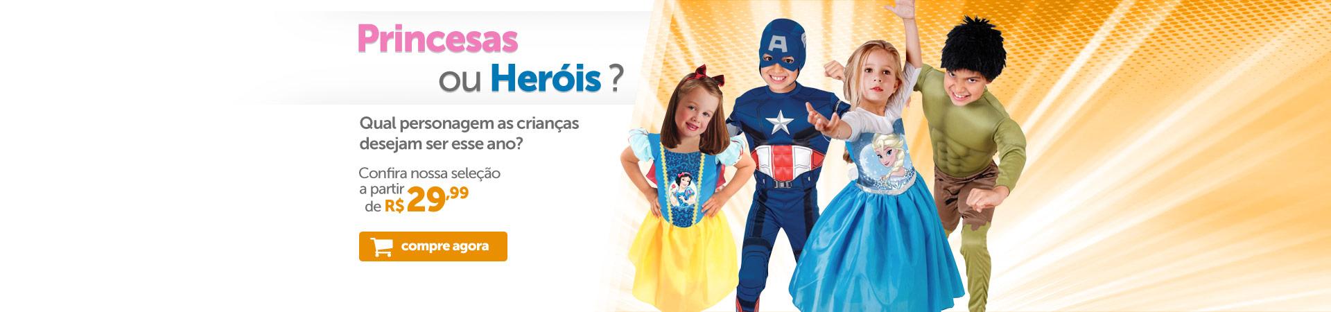 Princesas x Heróis