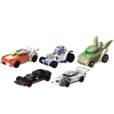 Pack-de-5-Carros-Hot-Wheels---Star-Wars---Mattel