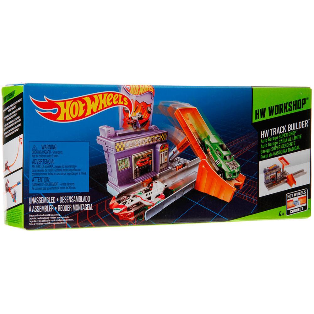 Trecho de Pista Hot Wheels - Track Builder - Posto de Gasolina Radical - Mattel