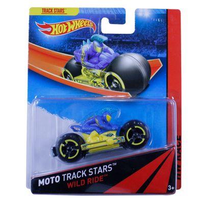 Moto Hot Wheels - Track Stars - Wild Ride Blue - Mattel
