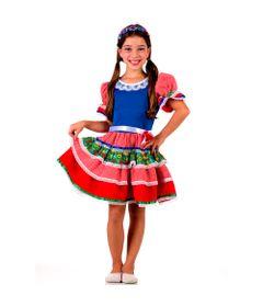Fantasia-Junina---Vestido-Caipirinha-Chic-Azul---Tam-P---Sulamericana