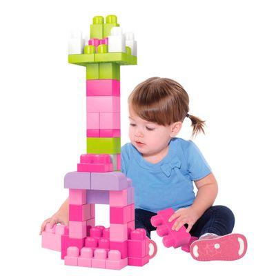 Conjunto Mega Bloks - Primeiros Construtores 60 Peças - Rosa - Mattel
