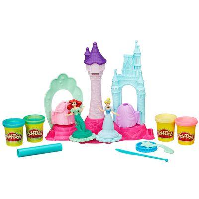 Conjunto Play-Doh - Princesas Disney - Palácio Real com Mini Bonecas - Ariel e Cinderela - Hasbro