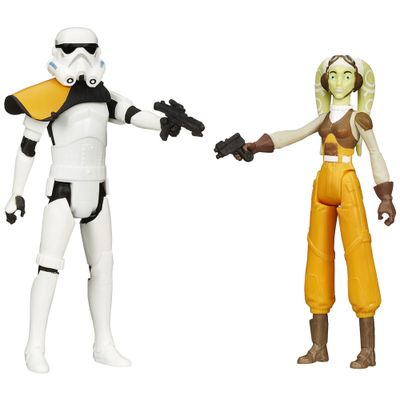 Bonecos Star Wars - Mission Series - Stormtrooper e Hera Syndulla - 10 cm - Hasbro - Disney