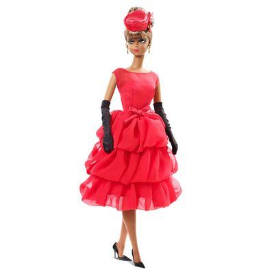 Boneca Barbie Colecionável - Vestido Vermelho - Mattel