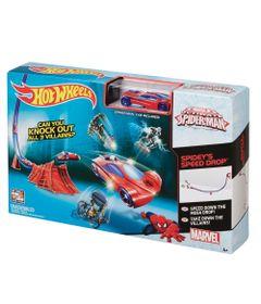 Pista-Hot-Wheels---Ultimate-Spider-Man---Speed-Drop---Mattel