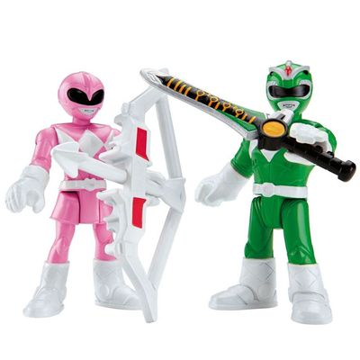 Mini-Figuras-Imaginext-Go-Go-Power-Rangers-Rangers-Rosa-e-Verde-Fisher-Price