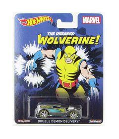 Carrinho-Hot-Wheels-Cultura-Pop-Marvel-Wolverine-Double-Demon-Delivery-Mattel