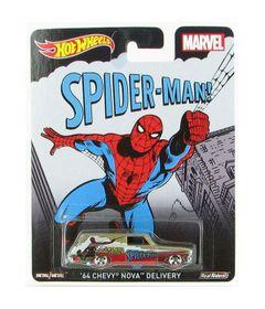 Carrinho-Hot-Wheels-Cultura-Pop-Marvel-Spider-Man-64-Chevy-Nova-Delivery-Mattel