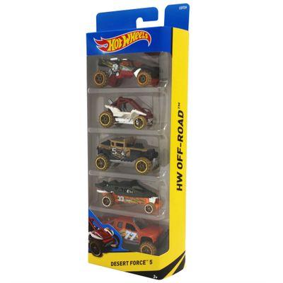 Carrinhos-Hot-Wheels-Pacote-com-5-Carros-Desert-Force-5-Mattel