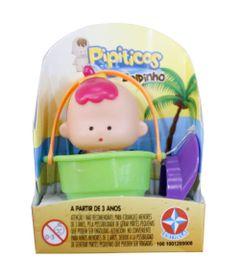 Mini-Boneco-Pipitico---Minininha-com-Baldinho-Verde---Estrela