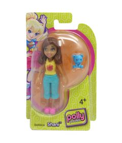 Boneca-Polly-Pocket-Shani-com-Ursinho-Azul-Mattel