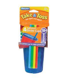 5019200-F1157-4-Copos-Plasticos-com-Tampa-e-Canudo
