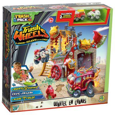 Trash Pack - Trash Wheels Quartel em Chamas - DTC