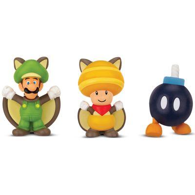 5026418-3525-Figura-Micro-Land-World-Of-Nintendo-Luigi-Esquilo-Voador-Toad-Esquilo-Voador-e-Bomb-Omb-Super-Mario-Bros-DTC