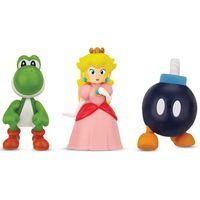 5026418-3525-Figura-Micro-Land-World-Of-Nintendo-Yoshi-Princesa-Peach-e-Bomb-Omb-Super-Mario-Bros-DTC