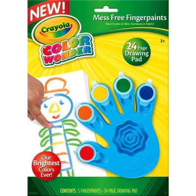 Pintura de Dedo - Color Wonder 5 Cores - Azul - Crayola