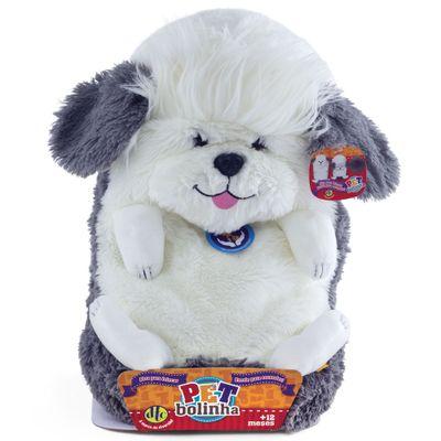 Pelúcia Pet Bolinha - Sheep Dog - DTC - Pelúcia Pet Bolinha - Cachorro - DTC