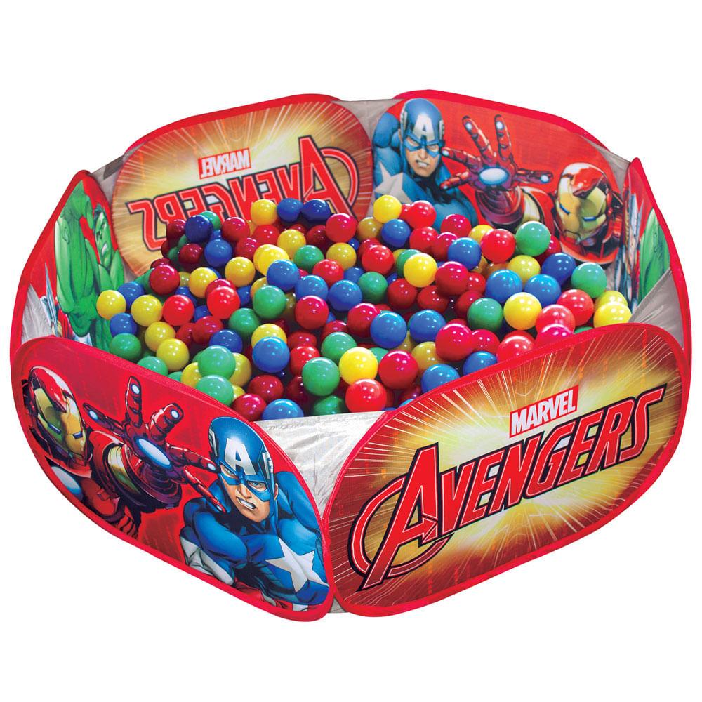 Piscina de bolinhas marvel avengers zippy toys for Piscina de bolas toysrus