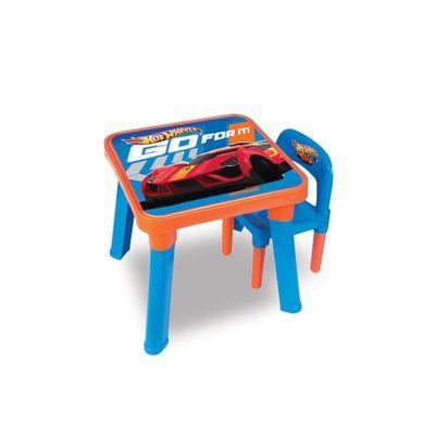 Mesa Infantil com Cadeiras - Hot Wheels - Barão