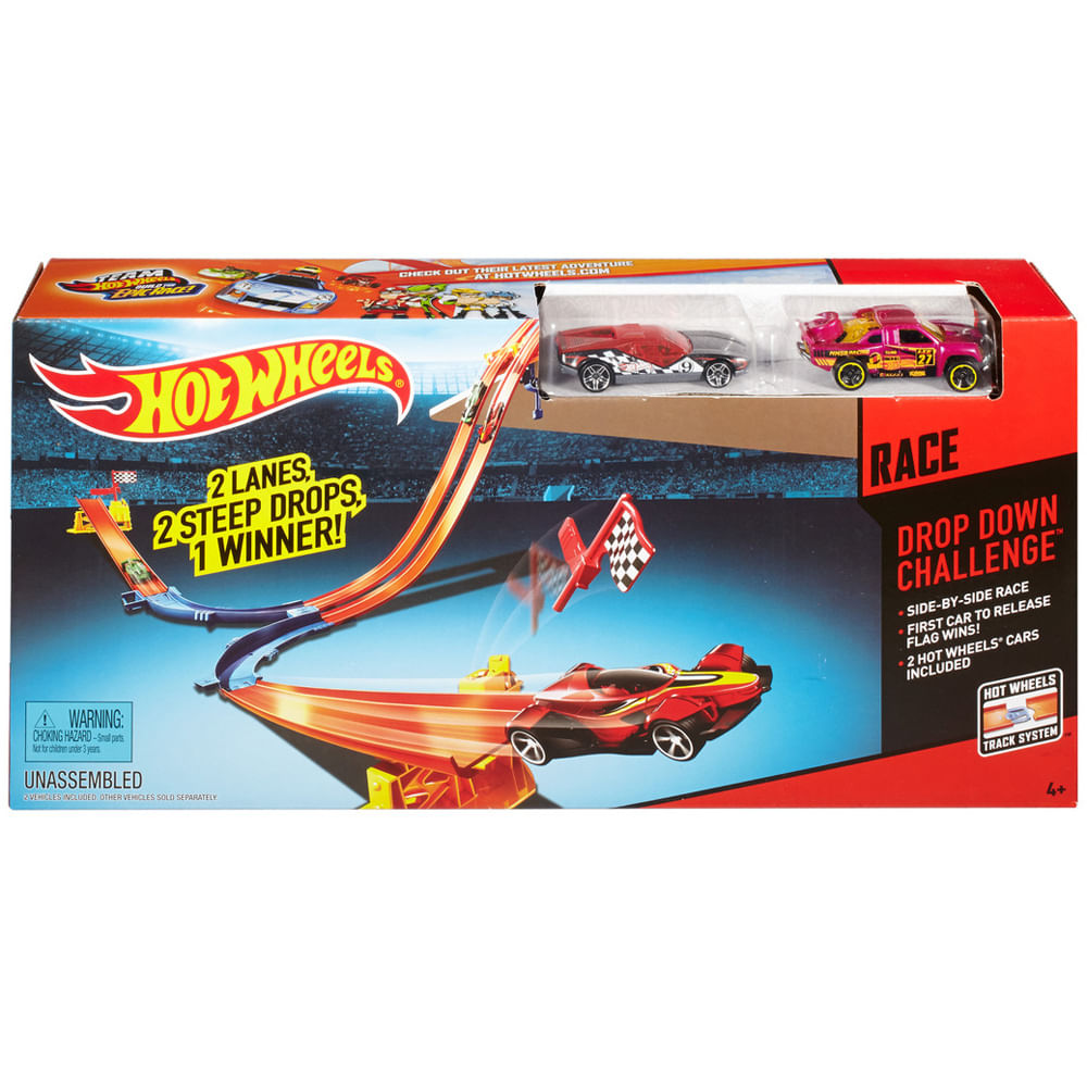 Pista de Corrida Hot Wheels - Pista Double Drop - Mattel