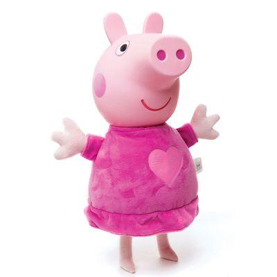 Boneca Peppa Pig - Peppa com Cabeça de Vinil - Estrela