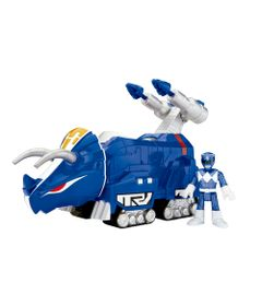 Figura-Mighty-Morphin-Power-Rangers---Zord-Rangers---Ranger-Azul-e-Triceratops---Fisher-Price--1