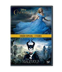 DVD---Pack-Com-2---Cinderela-2015-e-Malevola