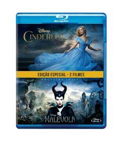 Blu-Ray---Pack-Com-2---Cinderela-2015-e-Malevola