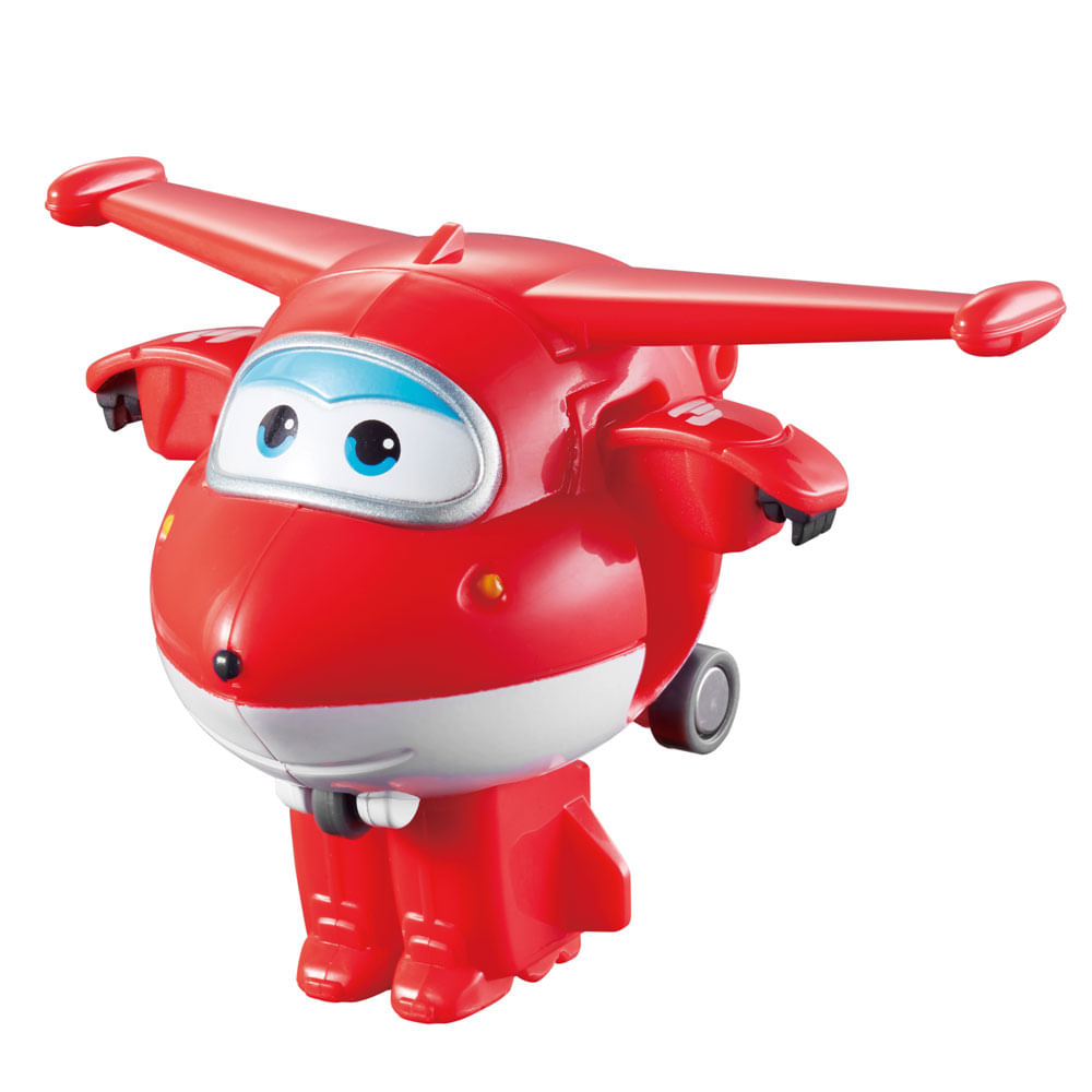 Mini Avião Super Wings - Jett Change ´ Em Up - Intek