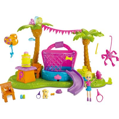 Playset Polly Pocket - Festa de Aniversário Pet - Mattel