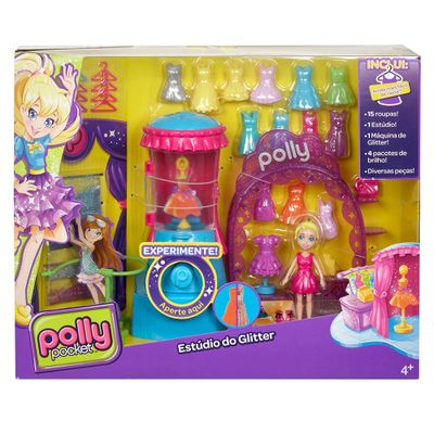 Boneca Polly Pocket - Estúdio do Glitter - Mattel
