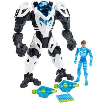 Boneco Max Steel - Max e Armadura Gigante - Mattel