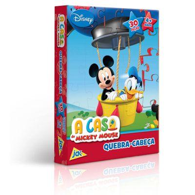 Quebra-Cabeça A Casa do Mickey Mouse - Mickey no Balão - 30 Peças - Toyster - Disney