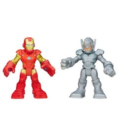 Bonecos-Marvel-Super-Hero-Adventures---Iron-Man---Ultron---Hasbro-1