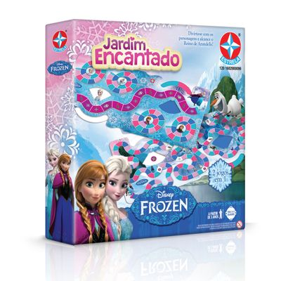 Jogo 2 em 1 - Jardim Encantado Disney Frozen - Estrela