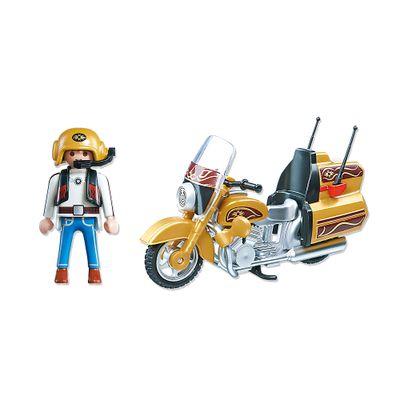 Playmobil Esporte e Ação - Motocicleta Amarela - 5523
