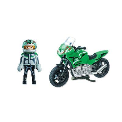 Playmobil Esporte e Ação - Motocicleta Verde - 5524