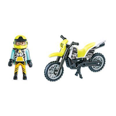 Playmobil Esporte e Ação - Motocicleta Verde e Branco - 5525