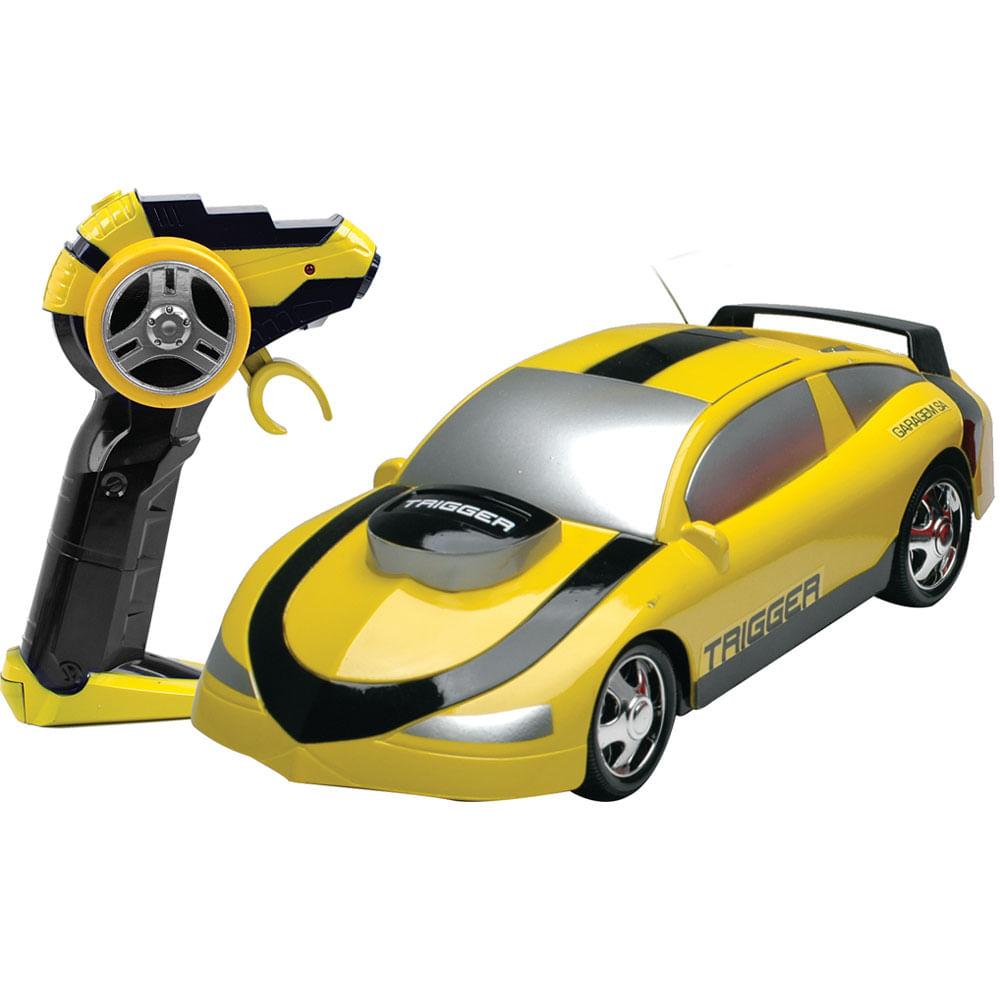 Carrinho de Controle Remoto - Série Garagem S / A - Trigger Amarelo - Candide