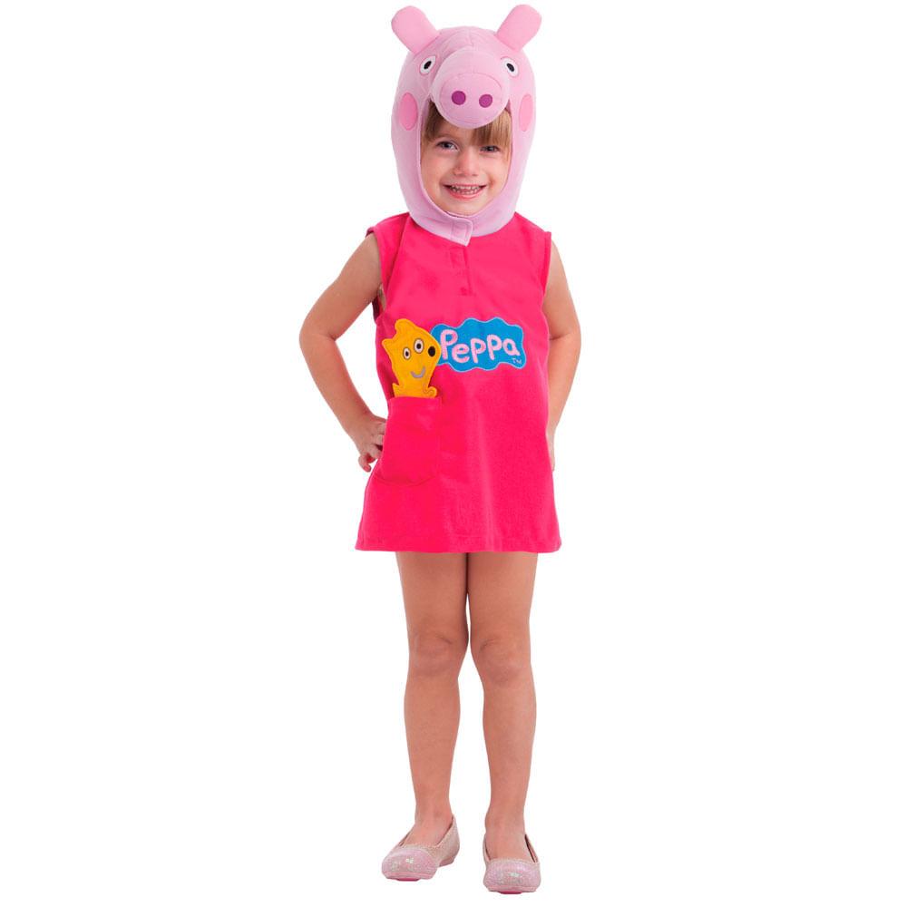 Fantasia Infantil - Peppa Pig - Peppa - Multibrink Fantasia Infantil - Peppa Pig - Peppa - Tam P - Multibrink