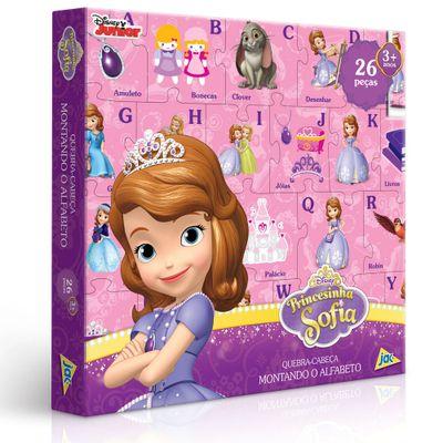 Quebra-Cabeça Montando o Alfabeto - Princesa Sofia - 26 Peças - Toyster - Disney