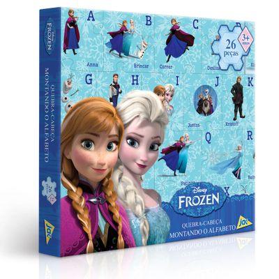 Quebra-Cabeça Montando o Alfabeto - Disney Frozen - 26 Peças - Toyster