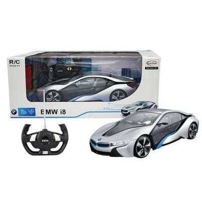Carro de Controle Remoto - BMW I8 Prata - 1:14 - CKS