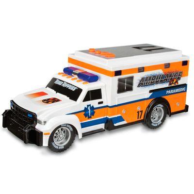 Ambulância Branca e Laranja - Road Rippers - Rush & Rescue - DTC