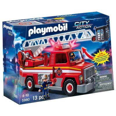 Playmobil City Action - Caminhão de Bombeiro - 5980