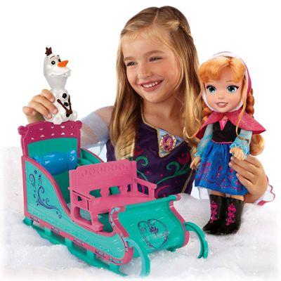 Boneca Disney Frozen - Anna Aventura na Neve com Trenó - Sunny