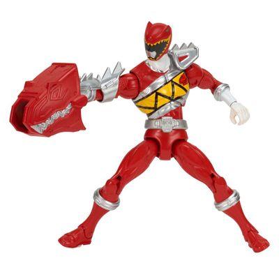 Boneco Power Ranger Dino Charger - Armadura de Luxo - Ranger Vermelho - Sunny