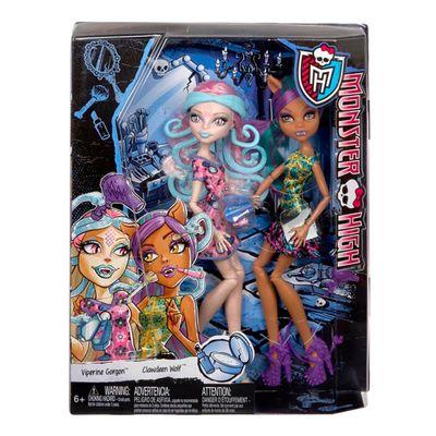 Bonecas Monster High - Sustos e Maquiagem - Clawdeen Wolf e Viperine Gorgon - Mattel